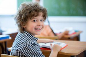Happy child at school