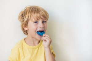 child with mouthguard