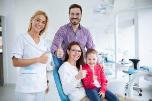 Happy family visits family dentist in Hamden