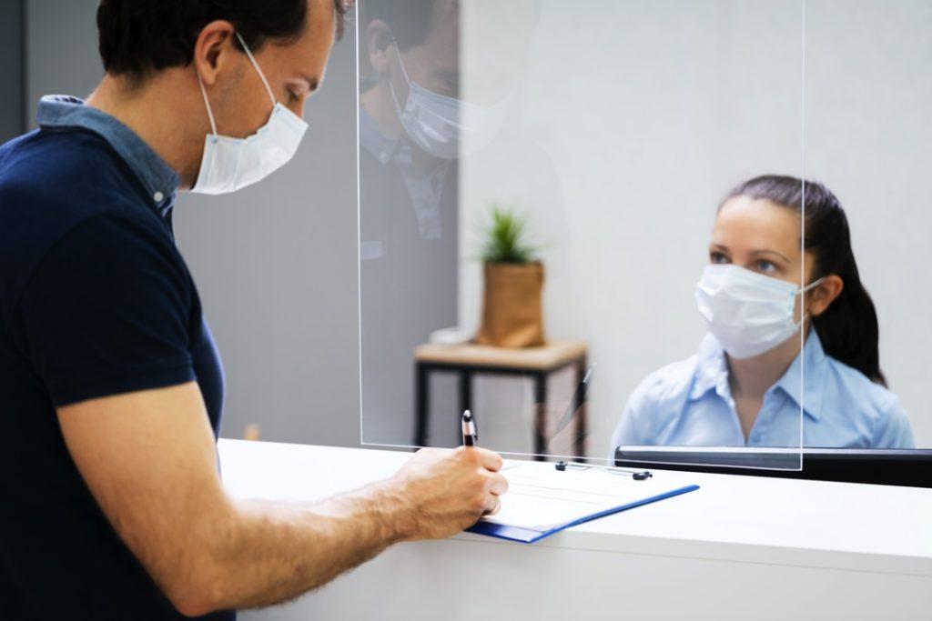 Man visiting dentist in Hamden